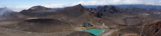 Panorama mit dem Blue Lake und die Emerald Lakes