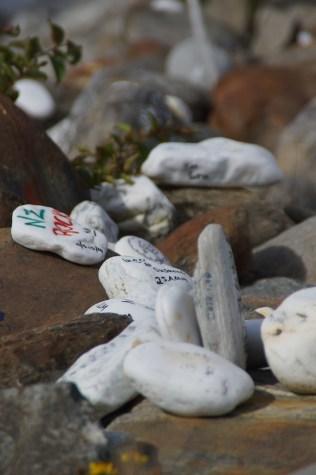 überall weiße Steine. Filzstift nicht vergessen