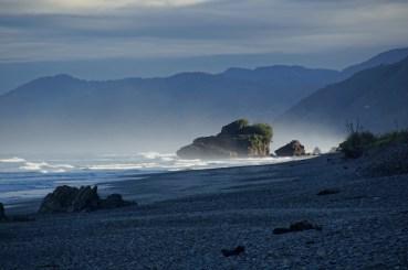 morgens am Strand von Granity