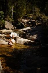 Die natürliche Wasserrutsche am Cleopatra Pool