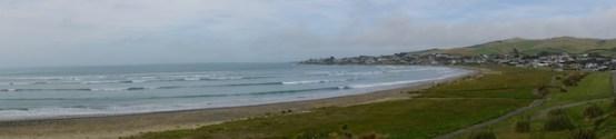 Panorama über dem Strand von Riverton
