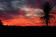 Aussicht vom Haus nach Sonnenuntergang