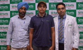 17-year-old boy is back to normal routine after Complex Spine Surgery at Fortis Mohali