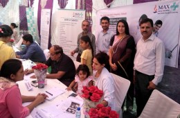Free Multispecialty Health Camp by Max Super Specialty Hospital at sec 40