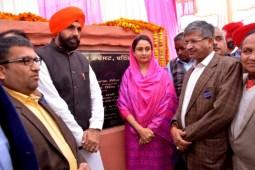Harsimrat Badal lays foundation stone of AC Bus Stand in Bathinda