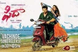 "Varun tej Fidaa First single ""Vachinde"" out today – awesome one"