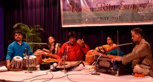 Audience enthralled with the music at 'Varsha Ritu Sangeet'