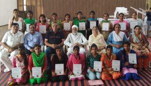 Distribution of Certificates at Sant Nirankari Tailoring & Embroidery Centre, Chandigarh