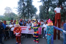 City residents turn up for Fun Family Carnival Walk in large numbers