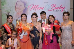 Moms along with their toddles set the ramp on fire during Mom & Baby catwalk show