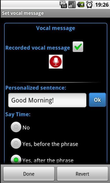 talking alarm clock pro