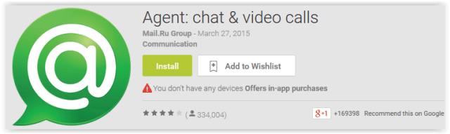 Agent chat & video calls