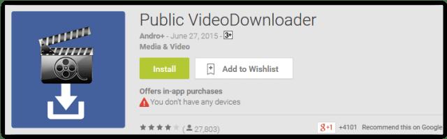 Public VideoDownloader