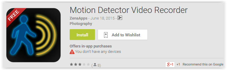 Motion Detector Video Recorder