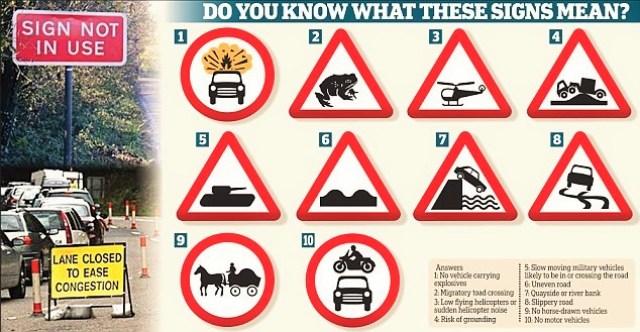 14N-ROAD SIGNS