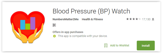 Blood Pressure (BP) Watch