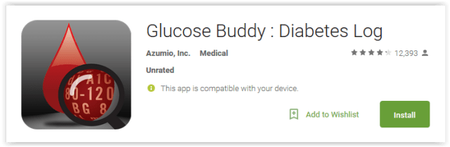 Glucose Buddy Diabetes Log