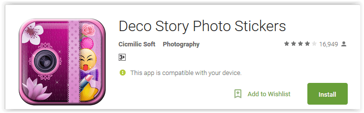 Deco Story Photo Stickers