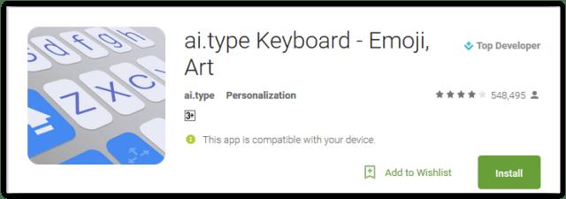 ai.type Keyboard - Emoji Art