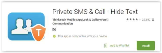 Private SMS & Call - Hide Text