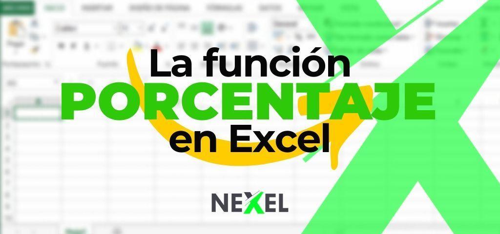 Función PORCENTAJE en Excel 【 EJEMPLOS 】