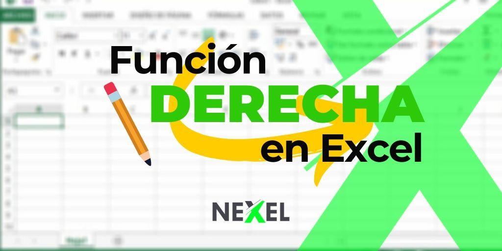 Función DERECHA en Excel 【 EJEMPLOS/ SINTAXIS/ VIDEO】