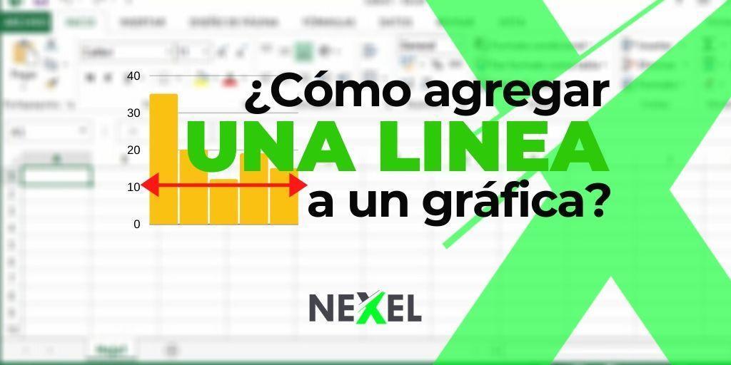 ¿Cómo agregar una linea a una gráfica Excel?