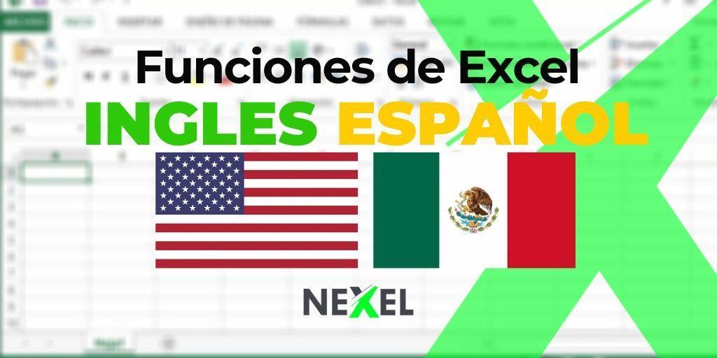 Funciones de Excel en INGLES / ESPAÑOL【 2020 】