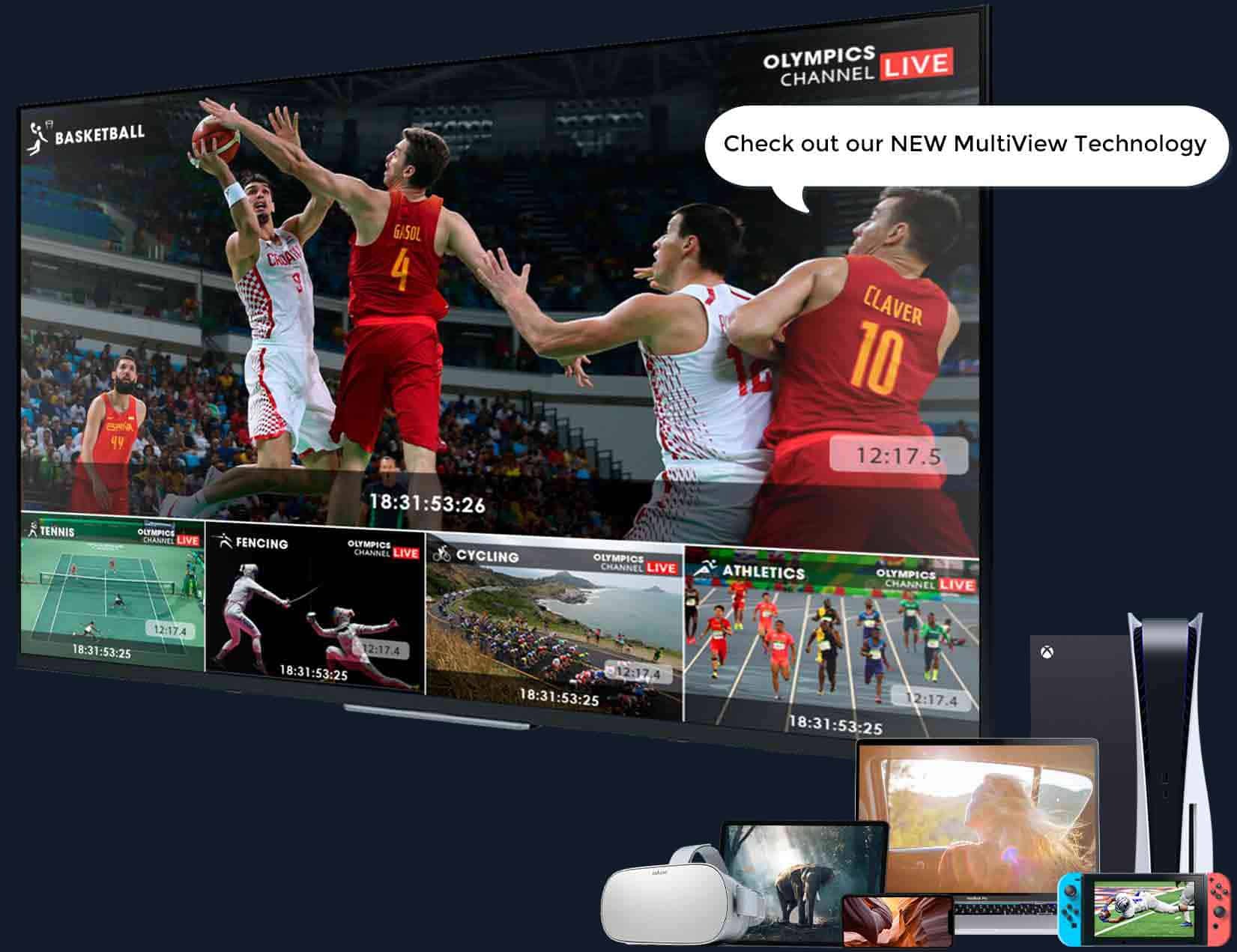 MultiView Video Player on TV and other devices