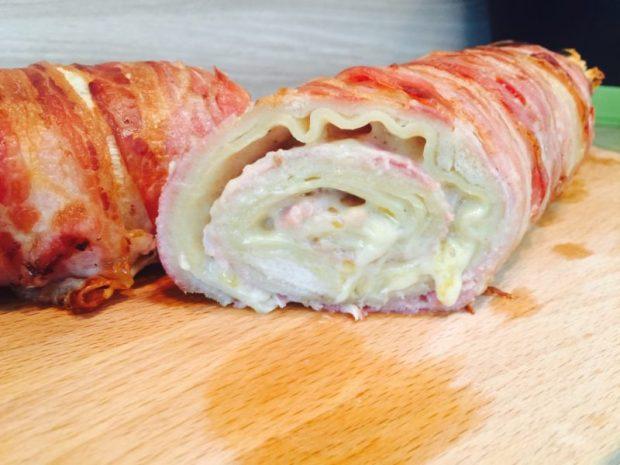 Baconrolle mit Käse Rezept servier Empfehlung