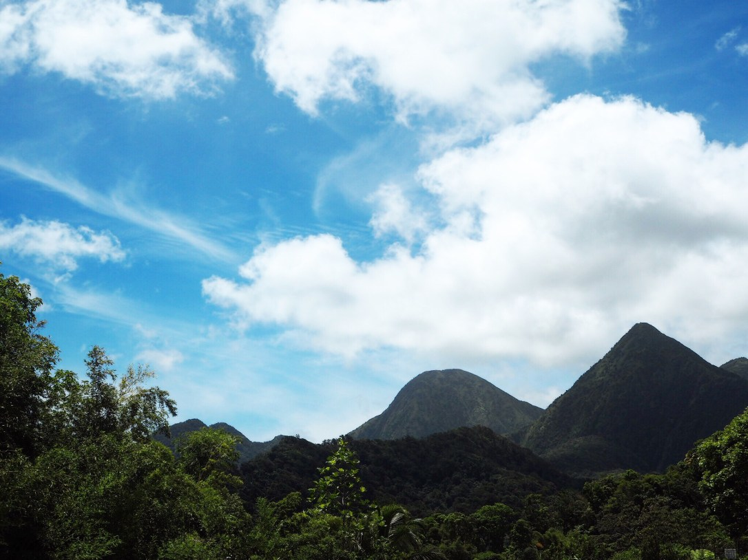 The views from the volcanic mountains of Martinique