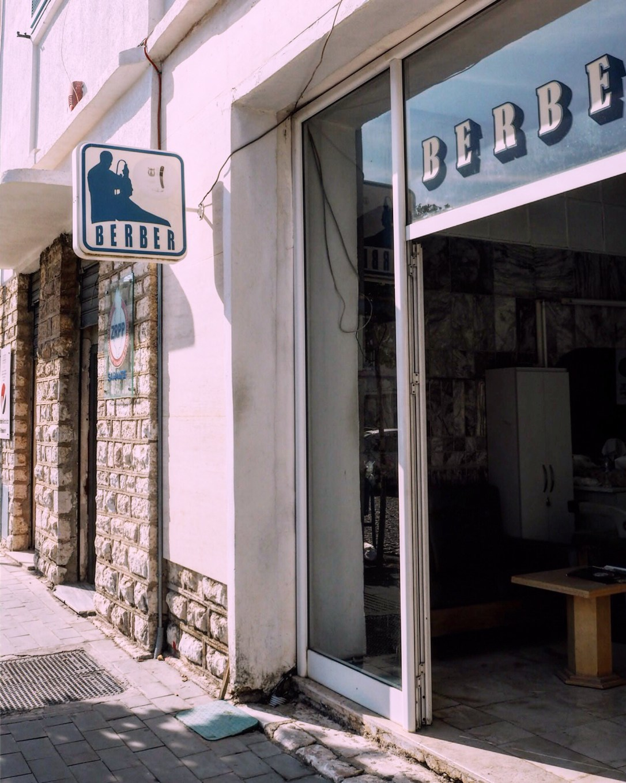 A barber shop in Albania
