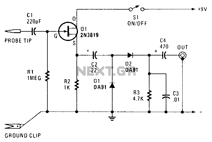 Rf-probe Under RF-Radiation Detector Circuits -13637