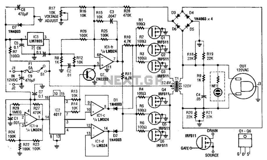 40W 120Vac Inverter Under High Voltage Circuits -14308