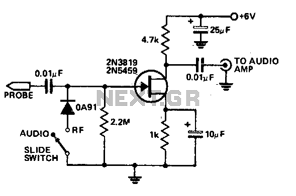 Audio-rf Signal Tracer Probe Under Logic Circuits -12927