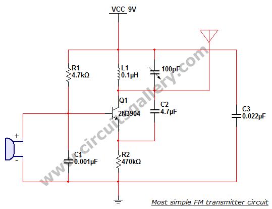 Fm Transmitter Circuit : RF Circuits :: Next.gr