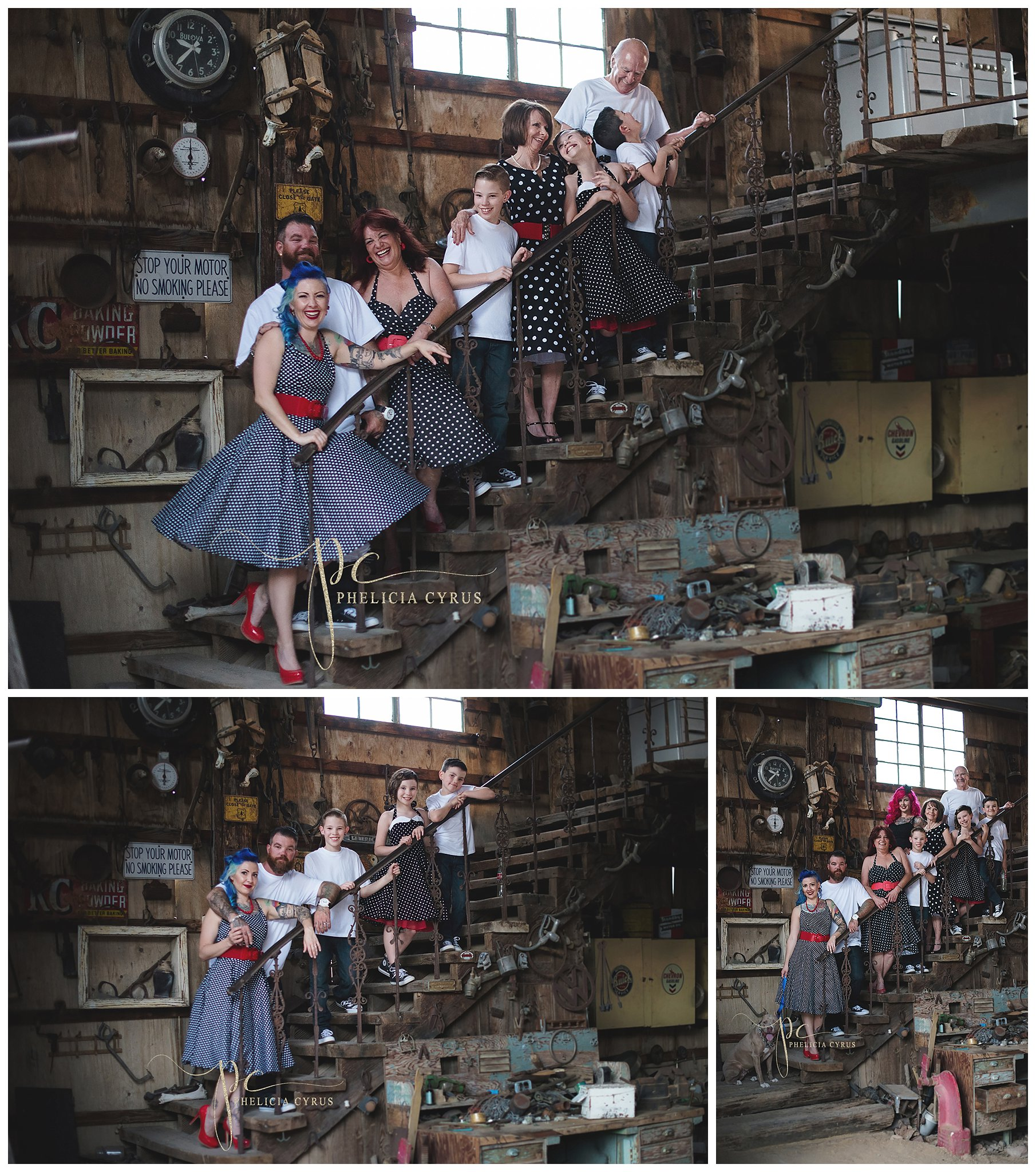 extended-family-session-laughing-on-stairs-ghost-town-nevada