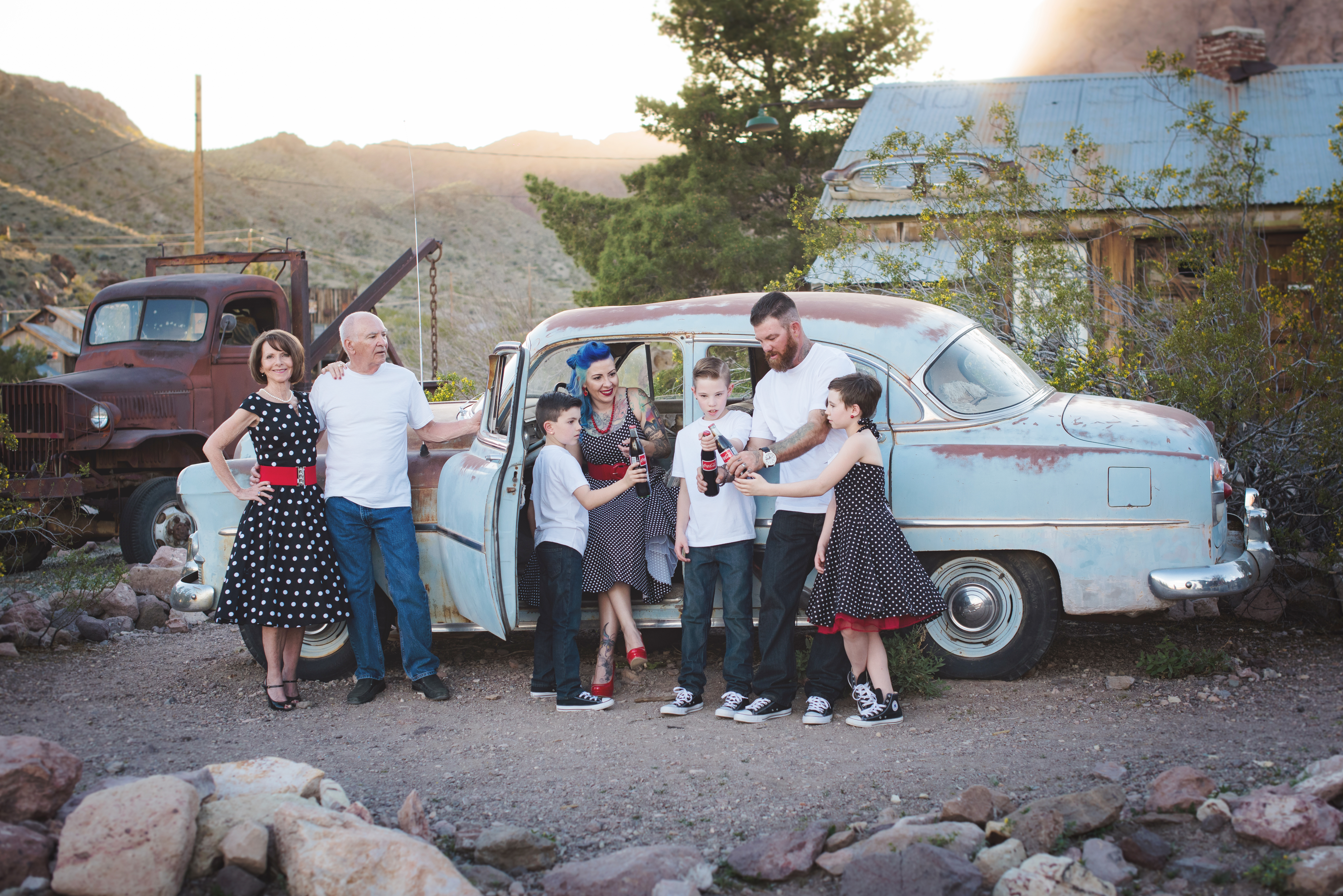 family-photography-next-to-old-car-in-nelson-ghost-town-nevada