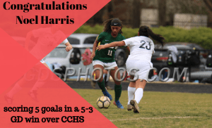 Harris scored 5 goals in 1 game
