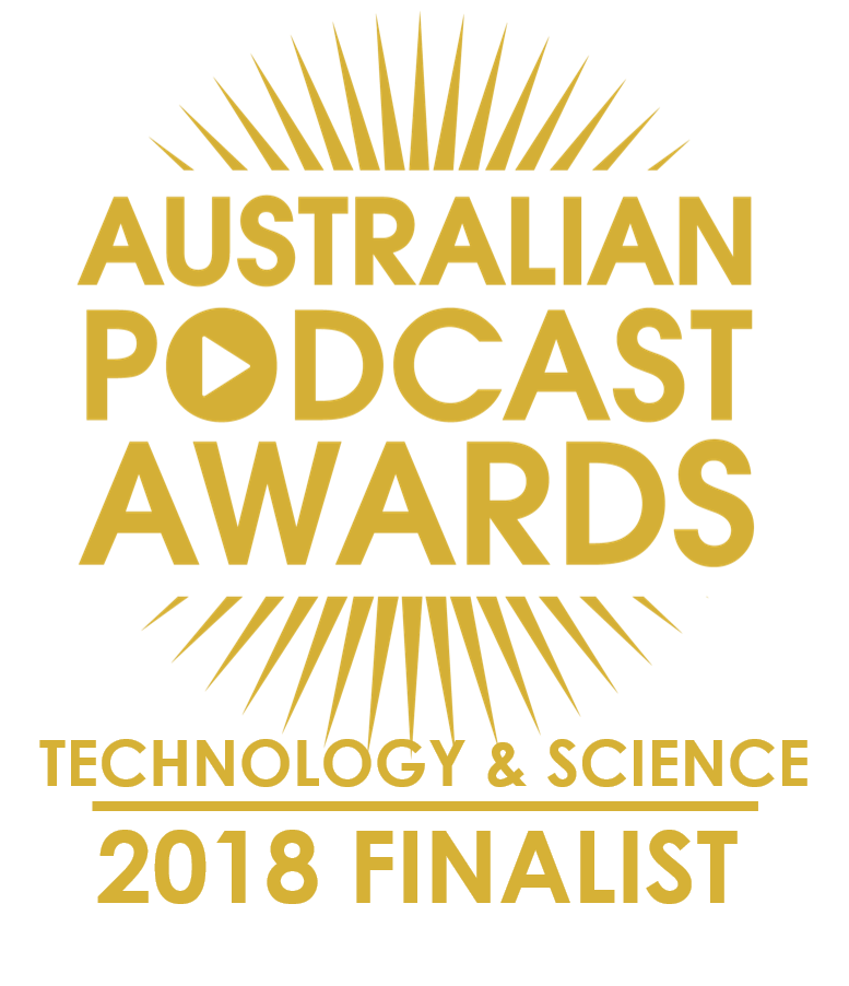 We're a finalist in the Australian Podcast Awards!