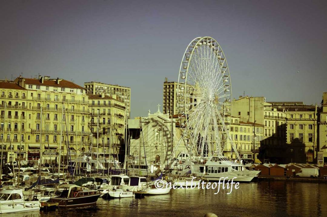 old port marseille ferris wheel