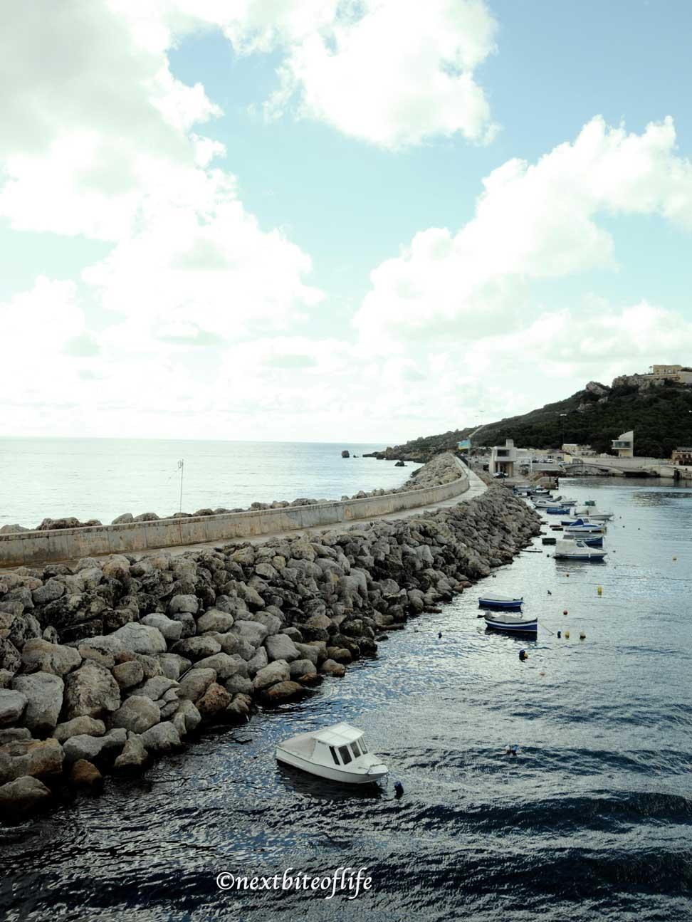 rocky beach long view gozo