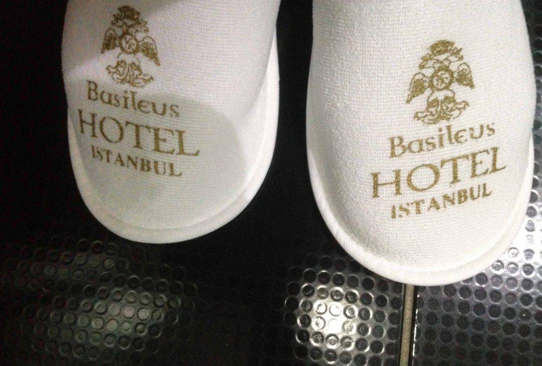 basileus hotel Istanbul slippers