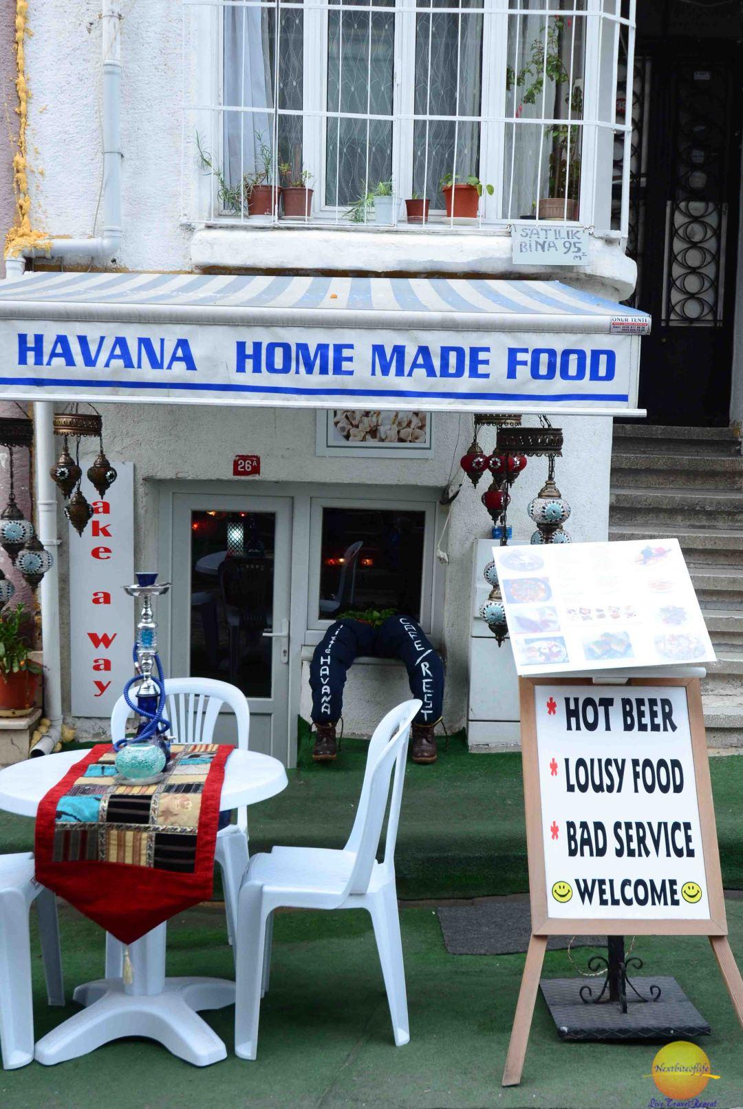 havana home made food stand istanbul