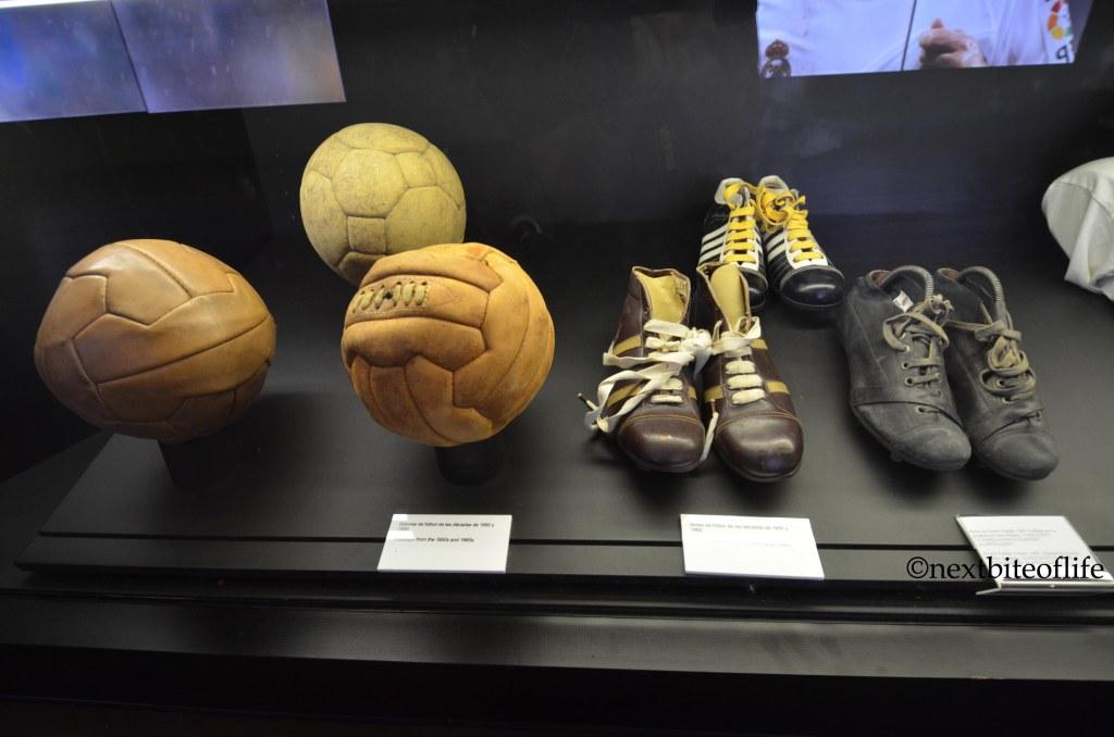 balls and shoes at madrid santiago bernabeu!