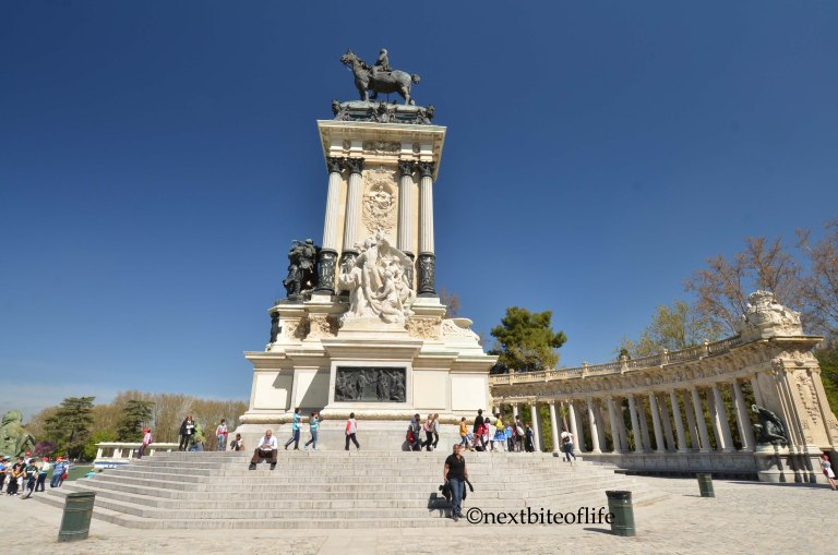 statue of king charles v el retiro park madrid