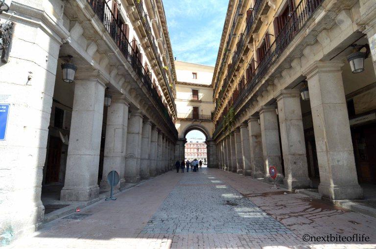 rear of plaza mayor