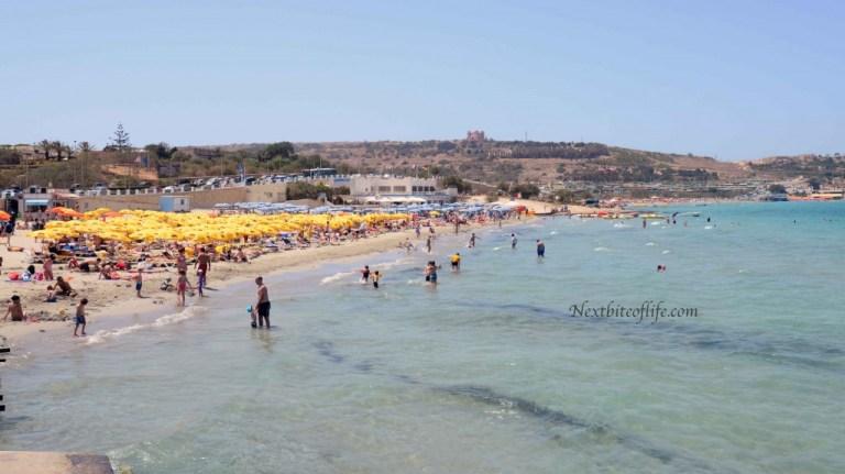 summer beach photo mellieha