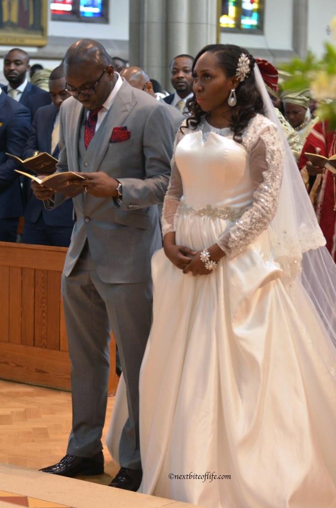 black bride and groom at wedding