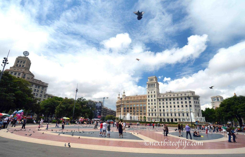 barcelona plaza catalunya